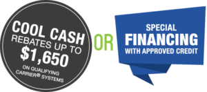 Carrier Rebates and Special Financing Ad