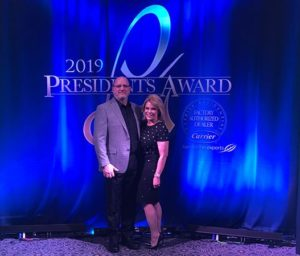 Bill and Peg Wiery at the 2019 Carrier Cooling Awards